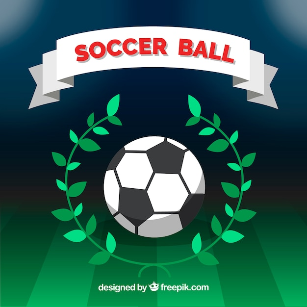 Soccer ball background with field
