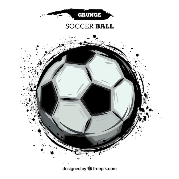 Soccer ball background with paint\ texture