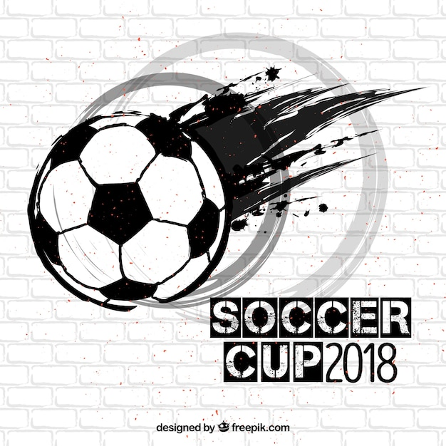 Soccer ball background with texture