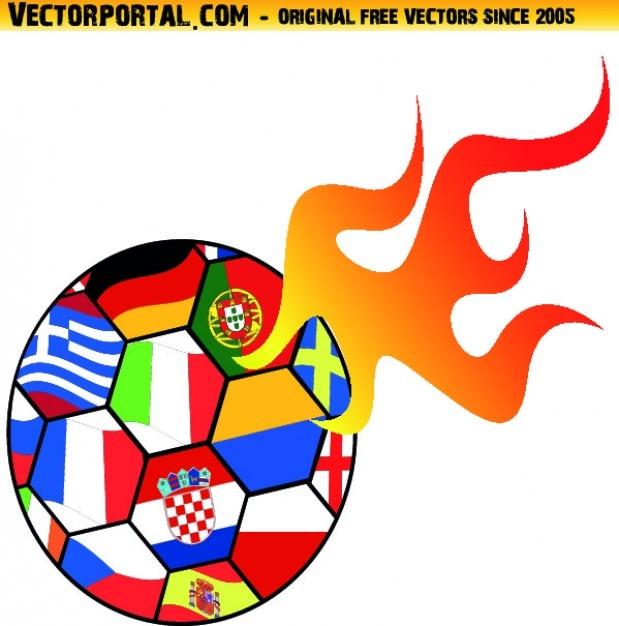 Soccer ball euro championship icon\ vector
