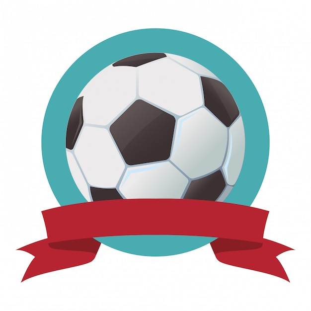 Soccer ball icon Premium Vector