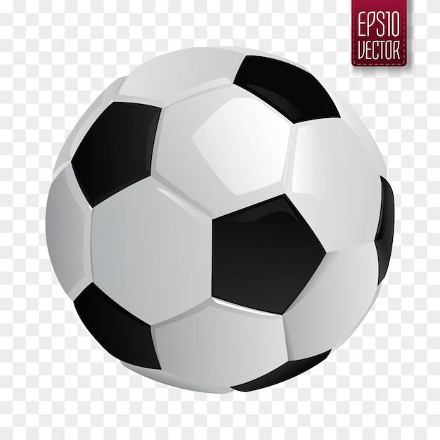 Soccer ball isolated. Premium Vector