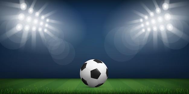 Soccer ball in soccer field stadium background Vector  7a0afa55b2c4f