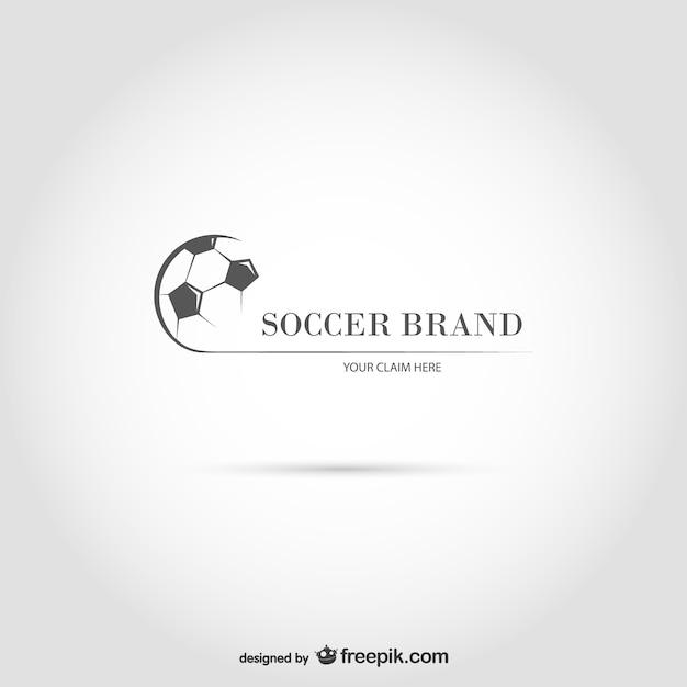 Soccer brand logo Free Vector