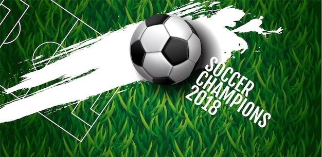 Soccer championship cup background Premium Vector