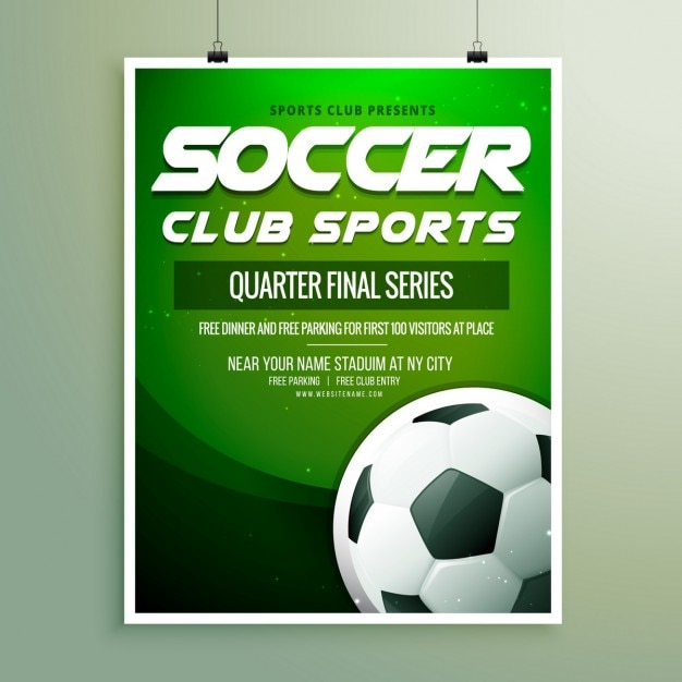 Soccer Championship Flyer Template Vector  Free Download
