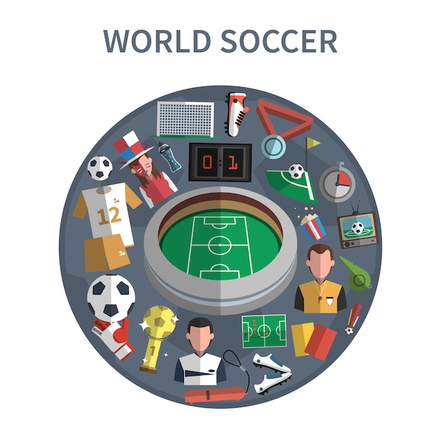 Soccer concept illustration Free Vector