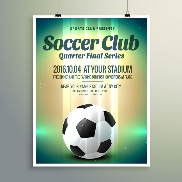 Soccer Cup Final Flyer Vector  Free Download
