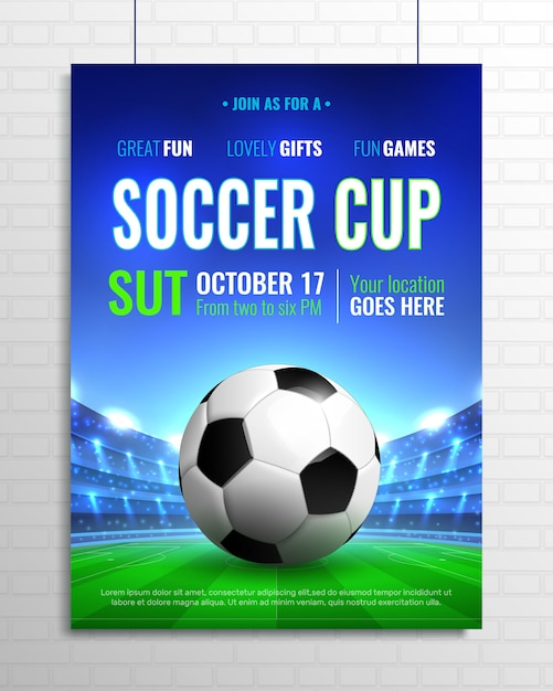 Soccer cup Free Vector