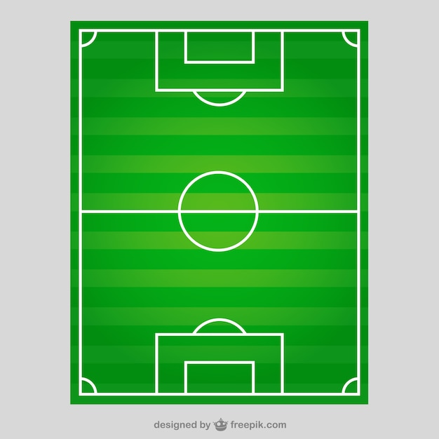 Soccer field in top view Free Vector