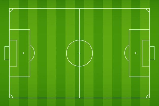 Soccer field with shock for playing football Premium Vector