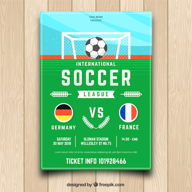 Soccer Flyer Template Vector Free Download