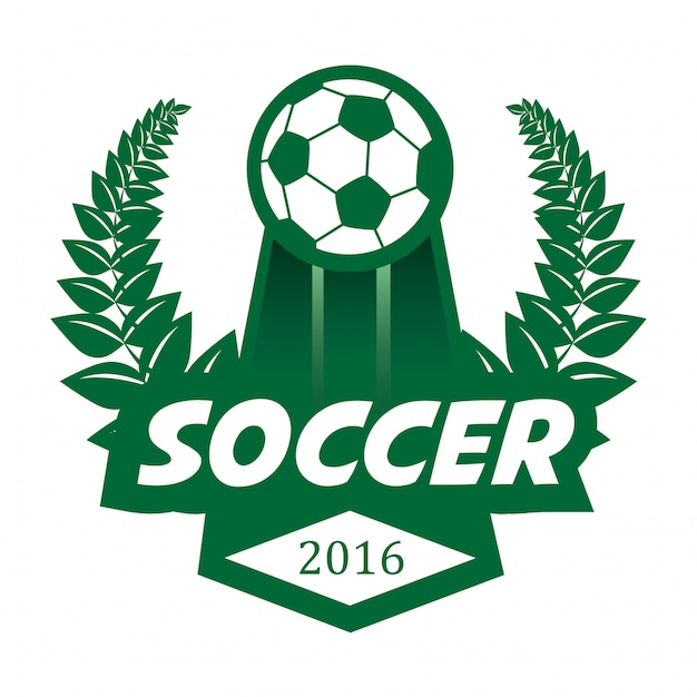 Soccer football badge logo design template. Premium Vector