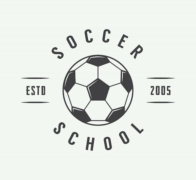 Soccer or football logo, emblem, badge. Premium Vector