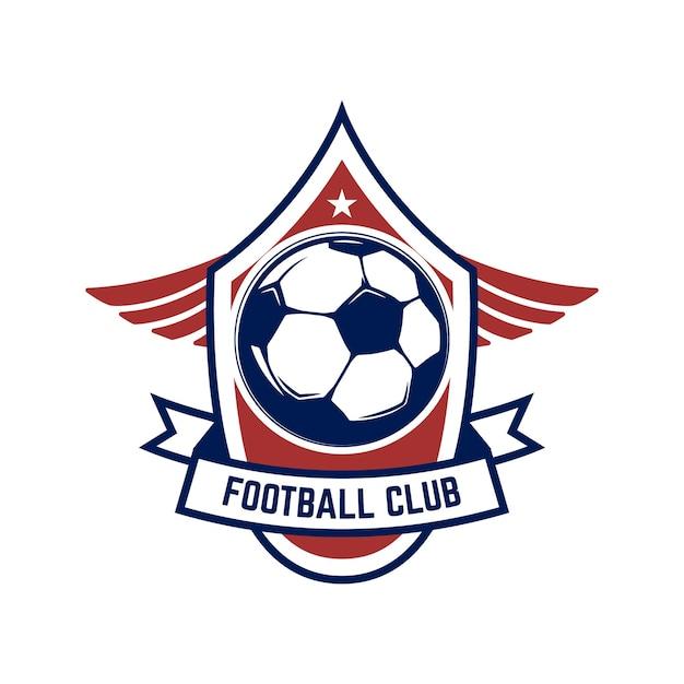 サッカー、サッカーのロゴ。 Premiumベクター