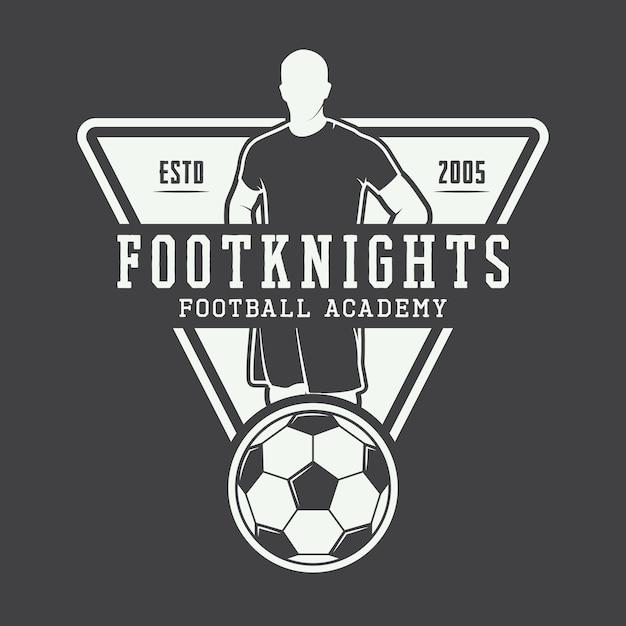 Soccer or football logo Premium Vector