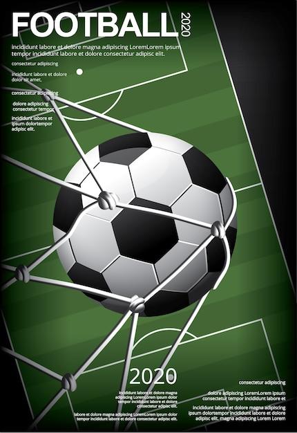 Футбол футбол плакат вестор иллюстрация Бесплатные векторы