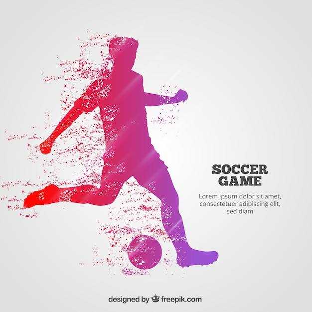 Soccer game background with player