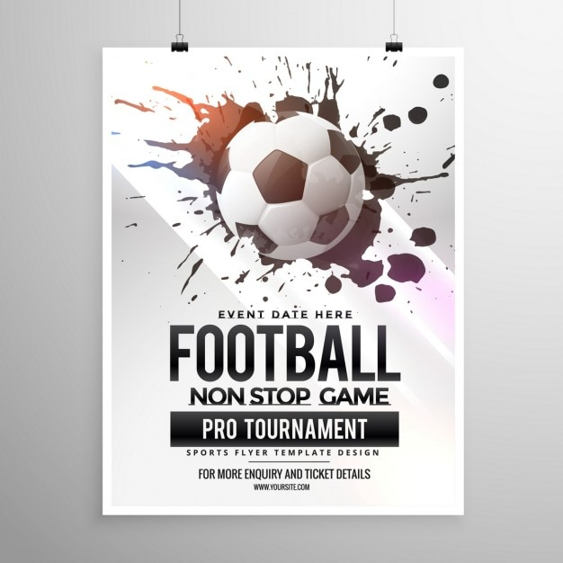 Soccer game tournament poster Free Vector