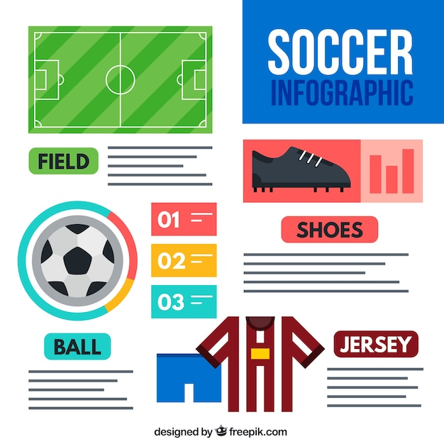 Infographic Ideas infographic soccer : Soccer infographic Vector | Free Download