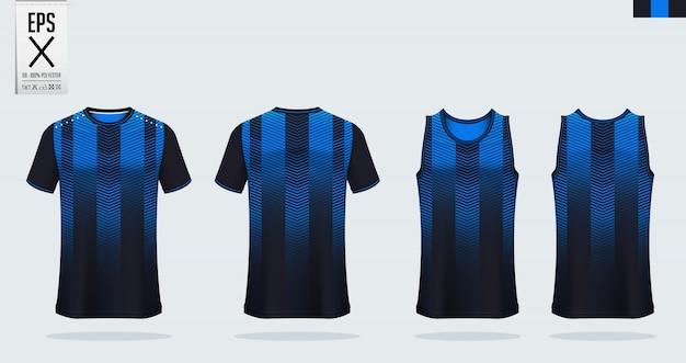 Футбольный джерси, футбольный комплект, баскетбольная форма шаблона. Premium векторы