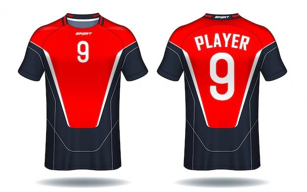 Soccer jersey sport t-shirt design. Premium Vector