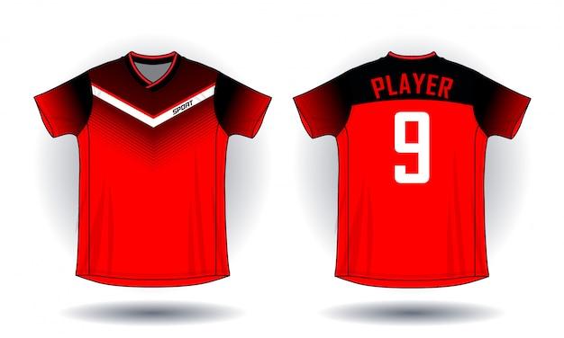 Soccer jersey sport t-shirt. Premium Vector