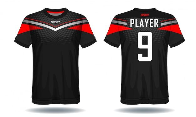 Soccer jersey sport t-shirt Premium Vector