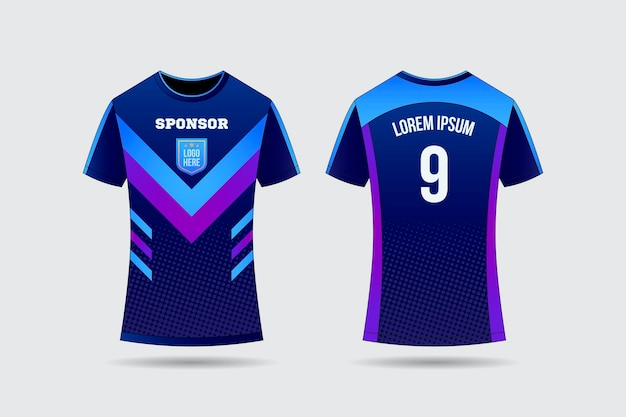 Concetto di t-shirt in jersey di calcio Vettore gratuito
