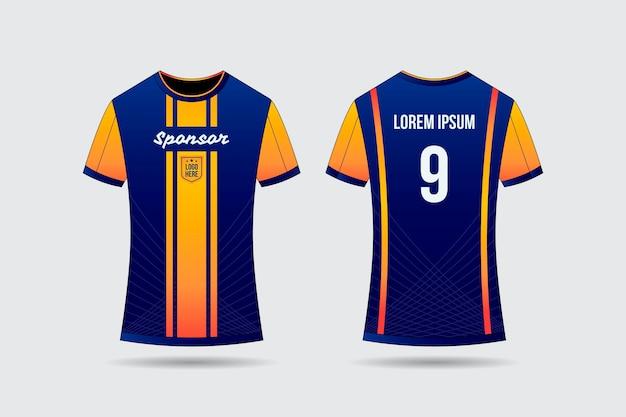 サッカージャージーtシャツのコンセプト 無料ベクター