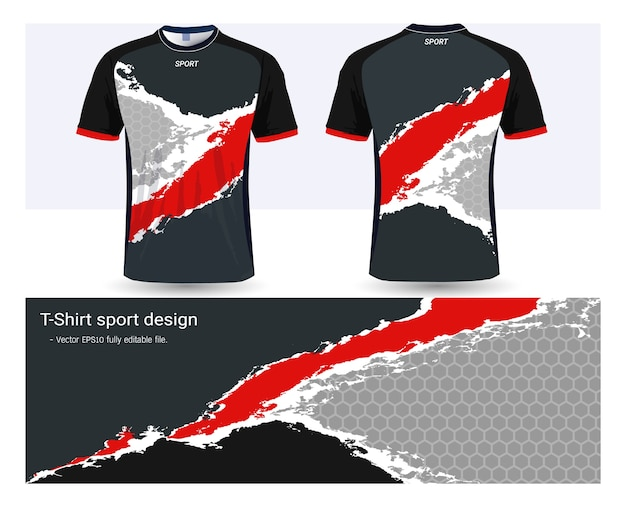 soccer jersey template for football club uniforms vector