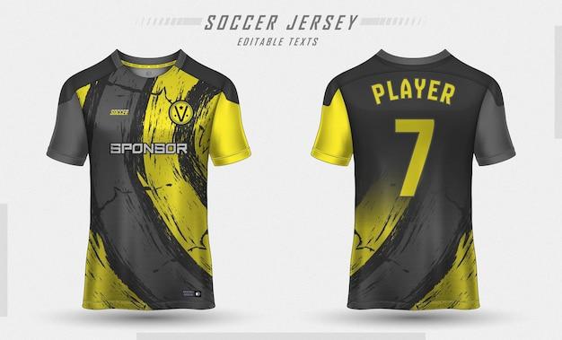 Soccer jersey template sport t shirt design Free Vector