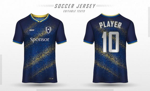 Soccer jersey template sport t-shirt design Free Vector