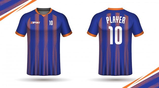 Soccer jersey template sport t shirt design Premium Vector