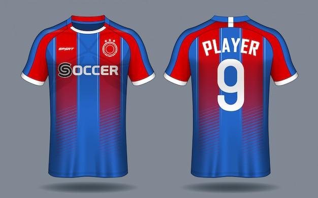 63aa6b8be Soccer jersey template.sport t-shirt design. Vector   Premium Download