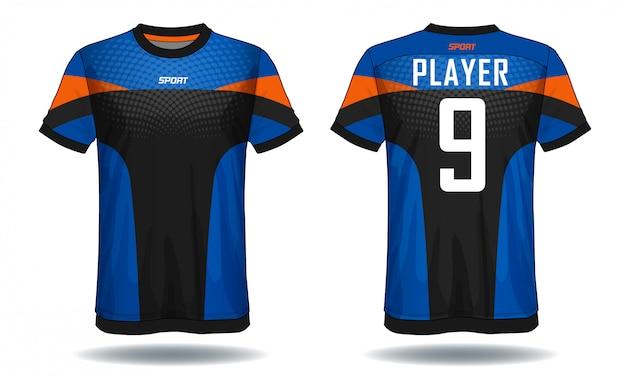 Soccer jersey template.sport t-shirt design. Premium Vector