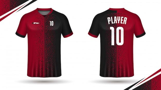 Soccer jersey template-sport t-shirt Premium Vector