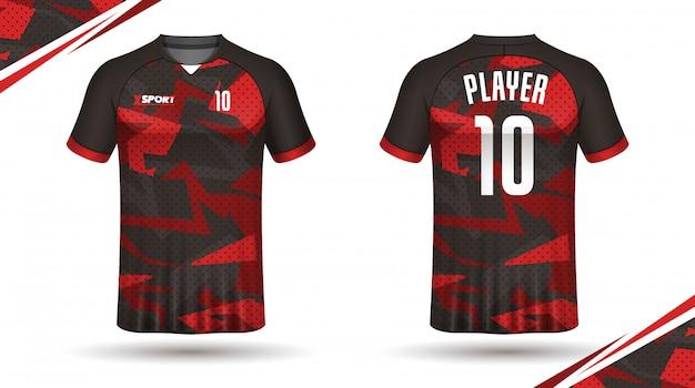 Soccer jersey template sport t shirt Premium Vector