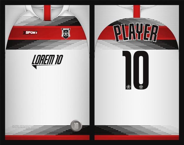 Soccer jersey template Premium Vector