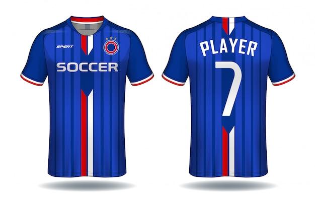 Soccer jersey template. Premium Vector
