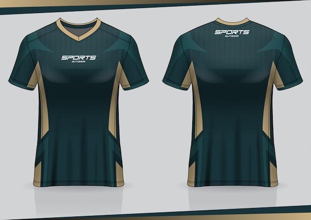 Футболка футболка спортивная шаблон Premium векторы