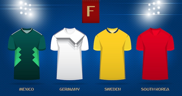 22cd3fc134c Soccer kit or football jersey template design for world cup 2018. Premium  Vector