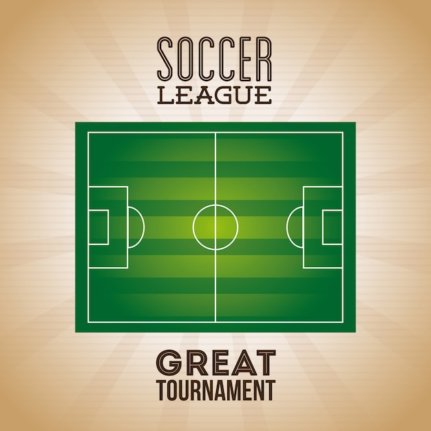 Soccer league poster Free Vector