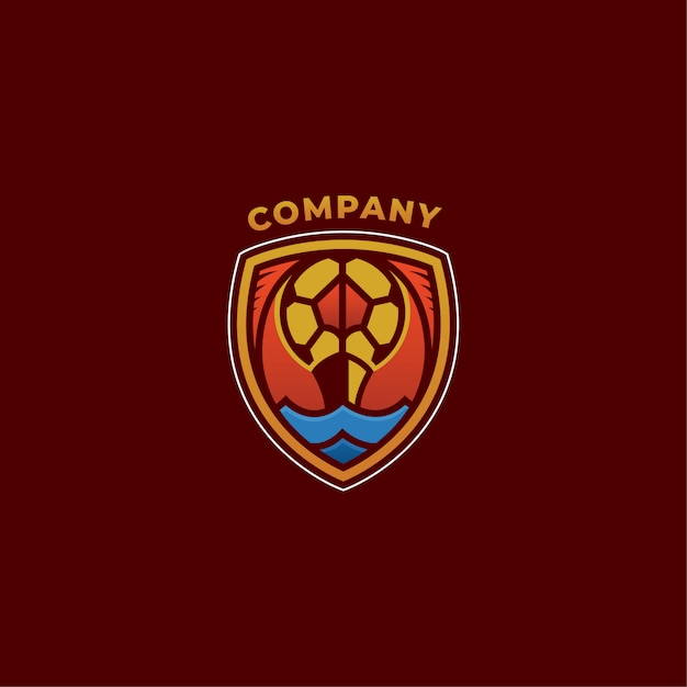 Soccer logo company Premium Vector