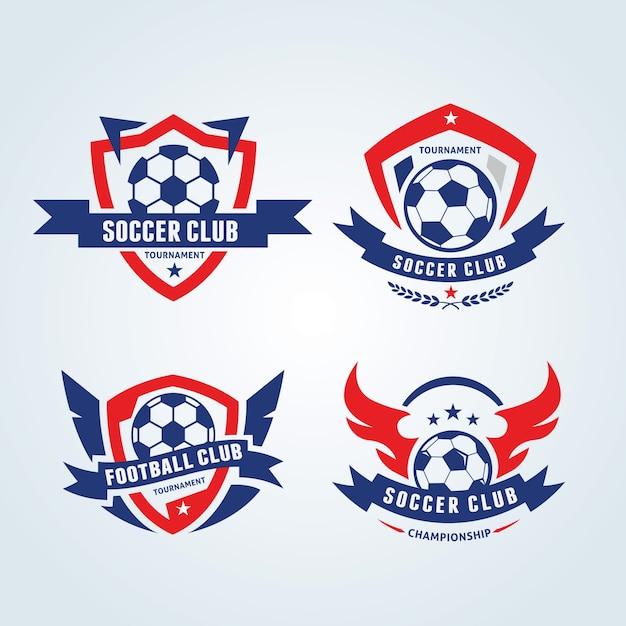 Логотип футбола, логотип футбола, логотип спортивной команды, vectortemplate Premium векторы