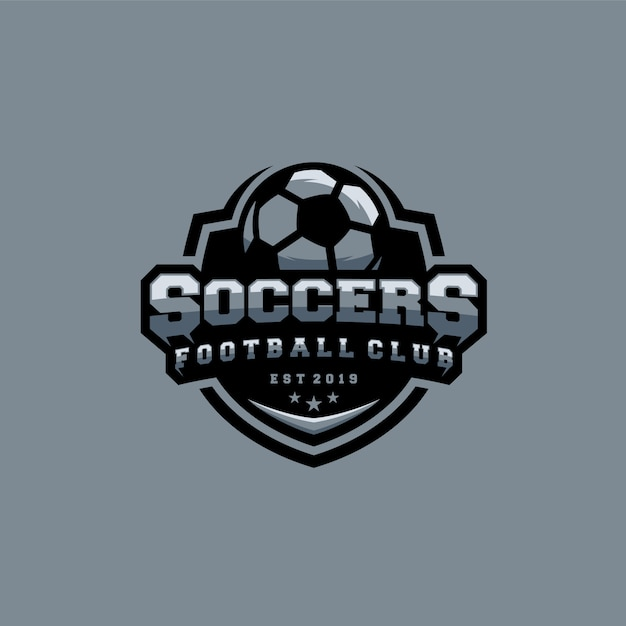 Soccer logo template Premium Vector