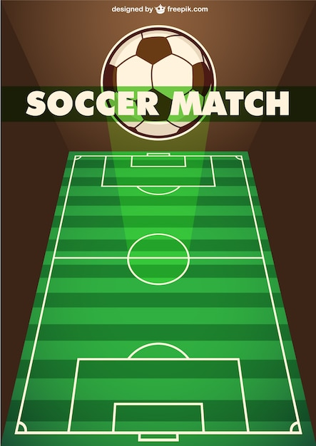soccer match template vector free download