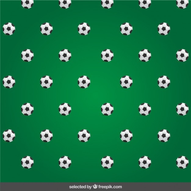 Soccer pattern with balls
