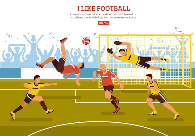 On soccer pitch Free Vector
