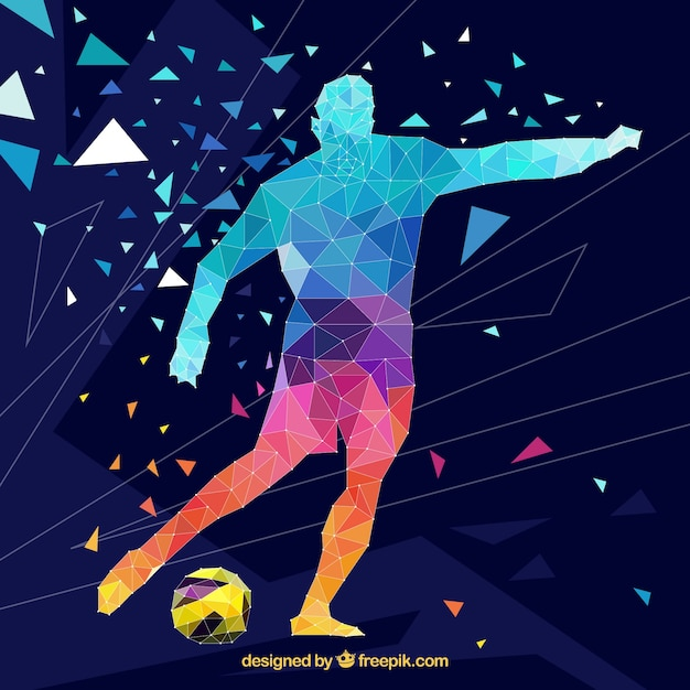 Soccer player background in abstract\ style